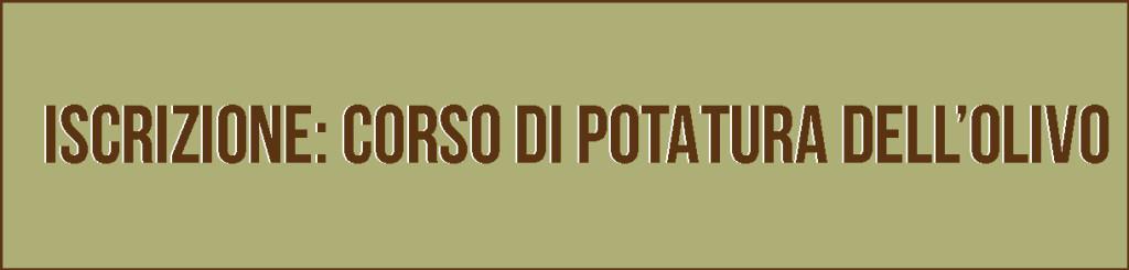 corso potatura dell'olivo