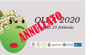 Annullamento convegno OLEA 2020