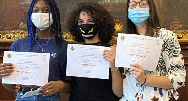 Concorso Lions, vincono tre studentesse dell'Anzilotti