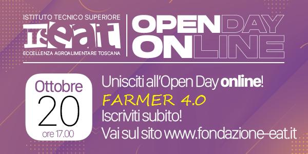 Farmer 4.0 Firenze – Open Day 20 ottobre 2020